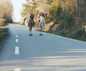 best friends, girl, and skate image