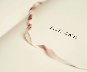book, the end, and end image