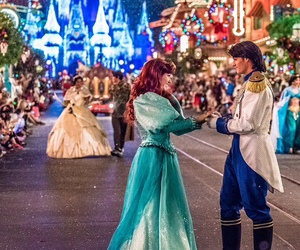 ariel, christmas, and disney image