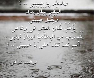 arabic, rain, and حب image
