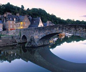 bridge, city, and river image