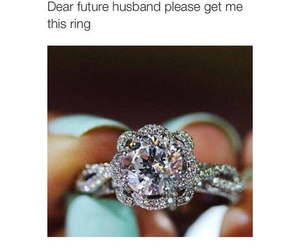 ring, future, and husband image