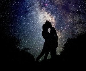 couple, galaxy, and love image