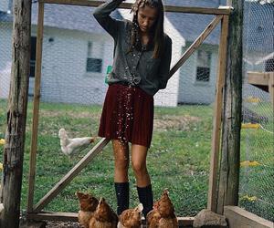 barn, farm, and girl image