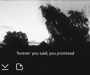 promise, forever, and sad image