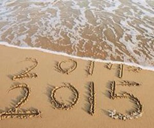 beach, new year, and 2015 image