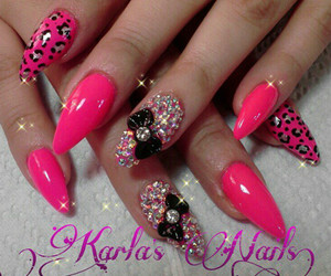 nails, bow, and kawaii image