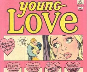 60's, comic, and heart image