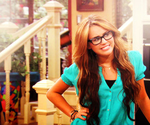 glasses, hair, and miley cyrus image