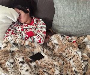 kendall jenner, christmas, and sleep image