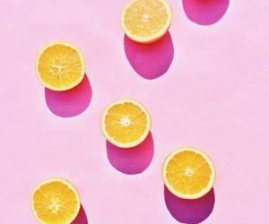 orange, pink, and fruit image