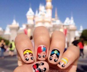 nails, disney, and princess image