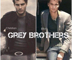 christian grey, brothers, and elliot grey image
