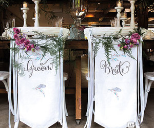 banner, bohemian, and bride image