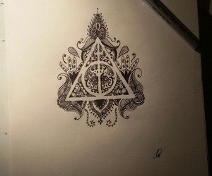 book, deathly hallows, and draw image