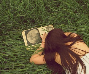 alone, girl, and book image