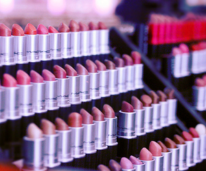 mac, lipstick, and girly image