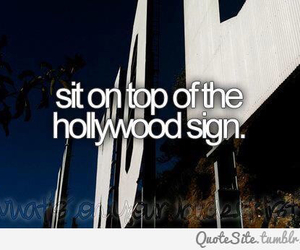 goal, hollywood, and sign image