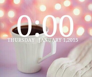 happy new year, screenshot, and time image