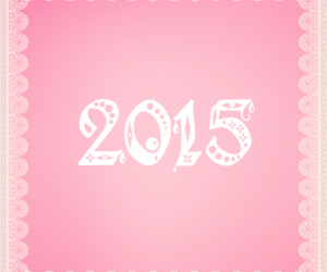happy new year, pink, and 2015 image