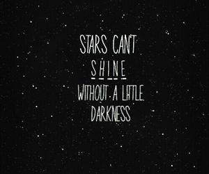 quote, stars, and Darkness image