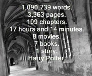 harry potter, movies, and words image