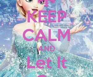 frozen, keep calm, and elsa image