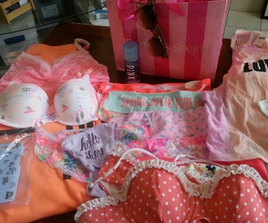 bra, clothing, and pink image