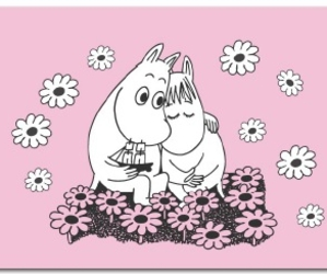 flowers, moomin, and pale image