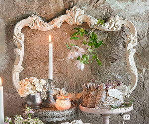 antique, decor, and flowers image