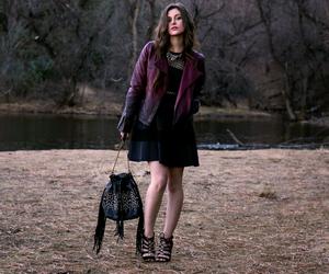 lbd, leather jacket, and little black dress image