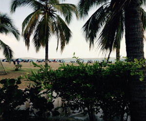beach, beautiful, and colombia image