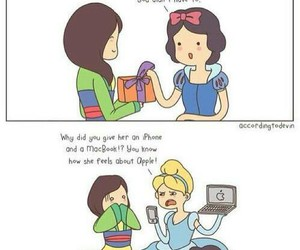 apple, disney, and funny image