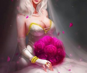 ashe, married, and dress image