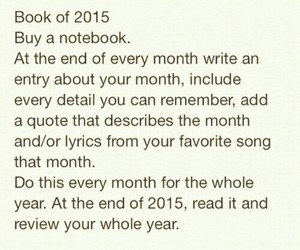 new year, note book, and 2015 image