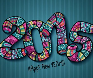 happy new year, 2015, and year image