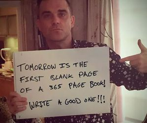 page, book, and Robbie Williams image