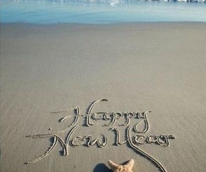 beach, new year, and happy image