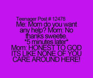 mom, teenager post, and funny image
