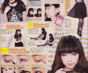 gothic lolita, make up, and japanese image
