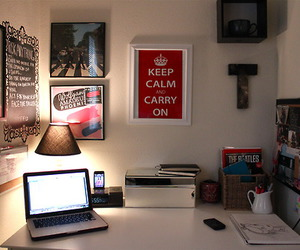 interior, keep calm and carry on, and room image