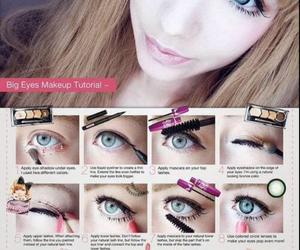 make up, tutorial, and doll image