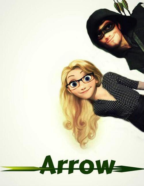 arrow, oliver queen, and Felicity image