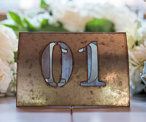 metal, reception, and table setting image