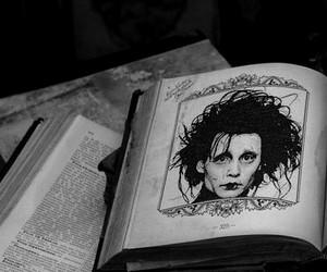 edward scissorhands, book, and johnny depp image