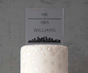 acrylic, black, and cake topper image
