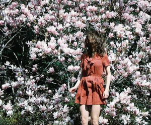 flowers, girl, and fashion image