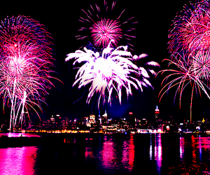 fireworks, pink, and photography image