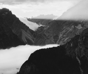 black and white, landscape, and nature image