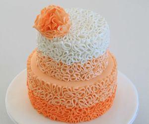 cake, orange, and white image
